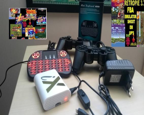 Retro Game 3,5mil Jogos - 64 Gb - 2 Contr. /c Fio + Keyb Usb