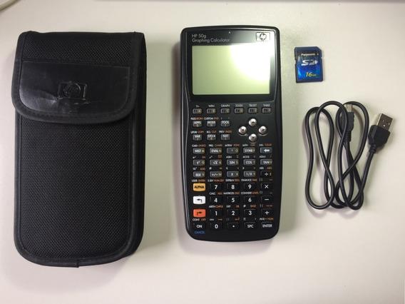Calculadora Gráfica Hp 50g + Capa + Cabo Usb