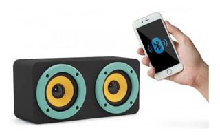 Parlante Induccion Magnetica Y Bluetooth Buo Negro/celeste