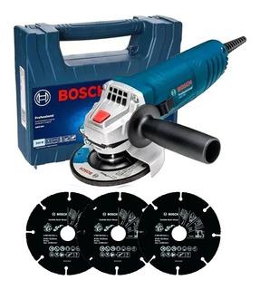 Amoladora Angular Gws 850 115 Mm 850w + 3 Discos Bosch - Mm