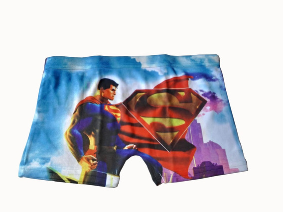 Cueca Box Infantil Superman Tamanho Gg