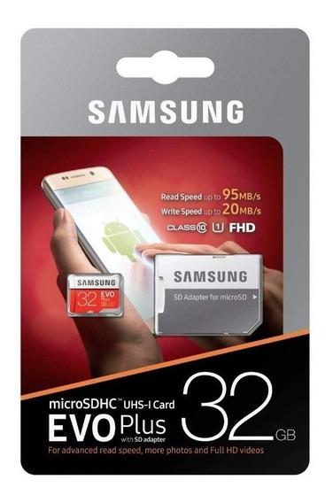 Samsung Cartão De Memória 32gb Evo Plus Micro Sdhc Class10