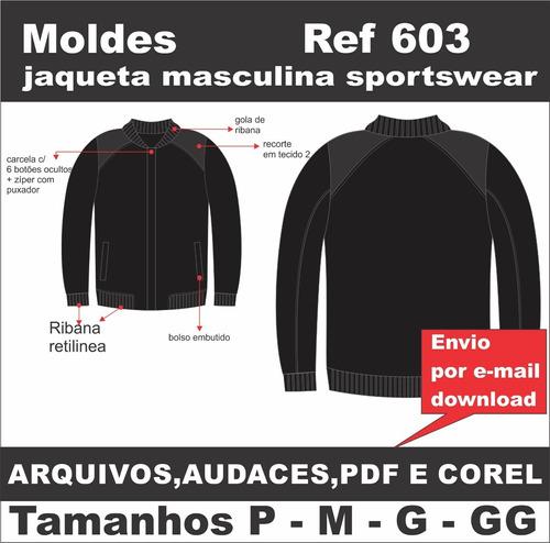 Moldes De Jaqueta Masculina Sportswear