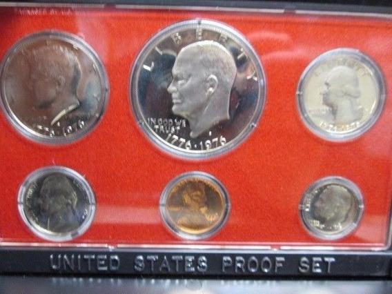1976 Moneda Plata Proof Americano Eeuu Acabado Espejo