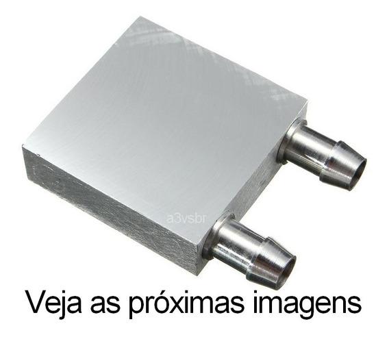 Dissipador Radiador Serpentina Base Aluminio / Projetos De Refrigeração A Água P/ Pastilha Peltier / Water Block Bloco