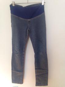 Pantalon Jean Para Embarazada Elastizado Con Faja Elastica