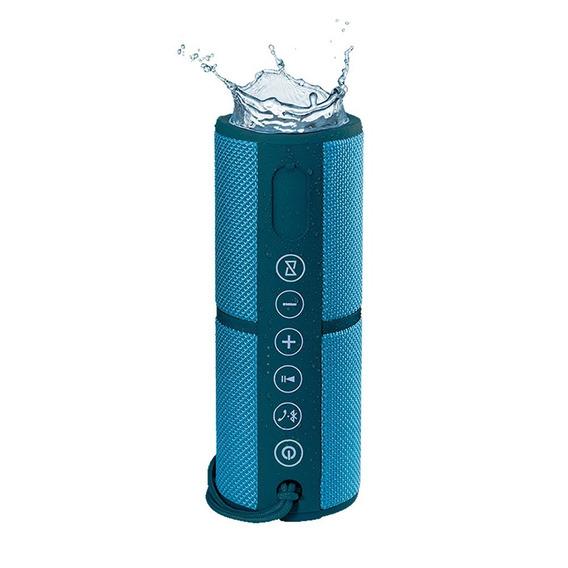 Caixa De Som Bluetooth Resistente A Água Azul Pulse - Sp253