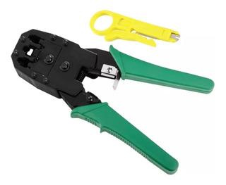 Pinza Crimpeadora + Pela Cables Para Rj45 Rj11 Rj9