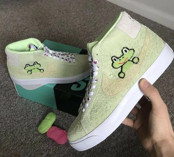Tenis Nike Sb Zoom Blazer Mid Frog Skateboards