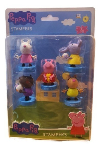 Imagen 1 de 1 de Peppa Pig - Set 5 Timbres Peppa Peluche