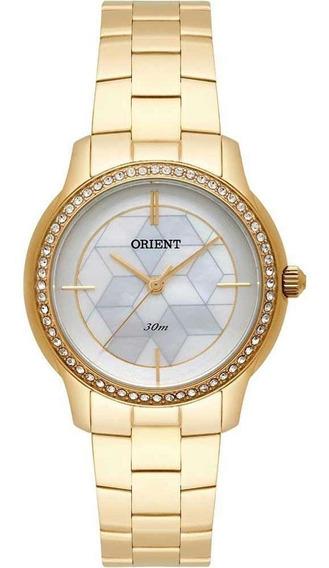 Relógio Orient Dourado Cristais Swarovski Fgss0111 B1kx