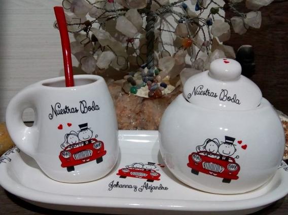 Souvenirs Mates Ceramica Personalizad Casamiento Aniversario