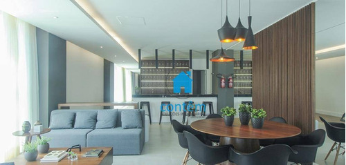 Ap2229 - Condomínio Mirante -apartamento Com 1 Dormitório À Venda, 48 M² Por R$ 333.200 - José Menino - Santos/sp - Ap2229