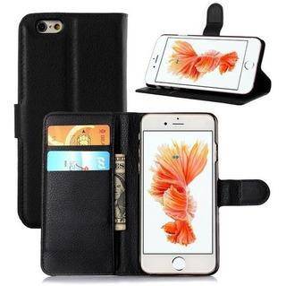Capa Case Carteira Flip iPhone 6 Plus Preto