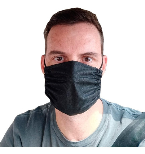 10 X Mascara Proteção Tecido Tnt Duplo Lavável Reutilizável