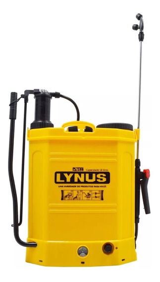 Bomba Veneno Costal Pulverizador Bateria Elétrico Lynus