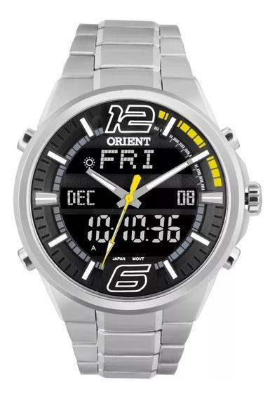 Relógio Orient Sport Masculino Prata Original Mbssa047 Pysx