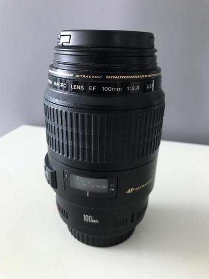 Lente Canon 100mm F2.8 Macro (em Estado De Zero)