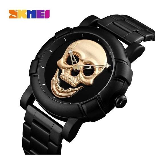 Relógio Masculino Skull 3d Caveira