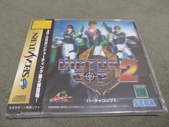 Virtua Cop 2 - Sega Saturn Ntsc-jp Lacrado De Fábrica