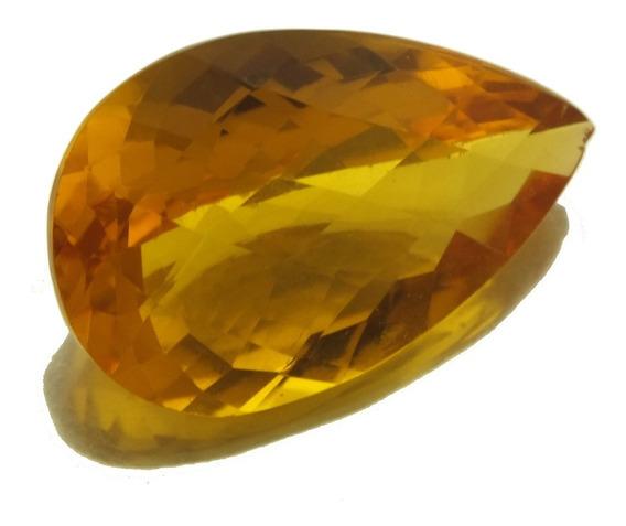 Citrino Gota Natural Pedra Preciosa Facetado Joias J21453