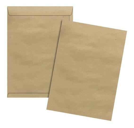 Envelope A4 Saco Kraft Pardo 22 X 32 Cm 250 Unidades