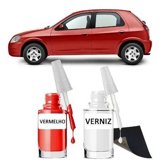 Tinta Tira Risco Automotivo Chevrolet Celta Vermelho Pepper
