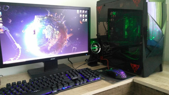 Pc Gamer I3 8100-8gb-gtx 1050-ssd240-monitor Acer 21.5