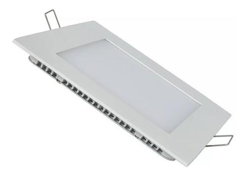Imagen 1 de 7 de Panel Led 18w Plafon Cuadrado Embutir Luz Calida Fria Neutr#