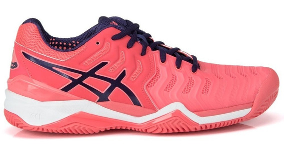 Tênis Asics Gel Resolution 7 Clay Pink E Marinho