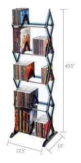 Librero Torre Dvd Cd 5 Niveles 130 Discos * Envío Gratis