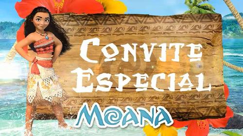 Imagem 1 de 5 de Convite Animado Moana