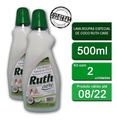 Kit C/2 Lava Roupas Líquido Ruth Care Coco 500ml
