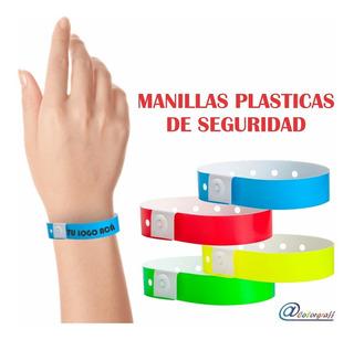 Manilla Plástica De Seguridad Brazaletes Vip Eventos