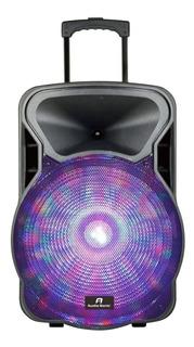 Bafle Amplificado 12 2 Vias C/bateria Y Microfono As-3012