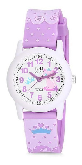 Relógio Q&q Infantil Menina Gatinha Prova D