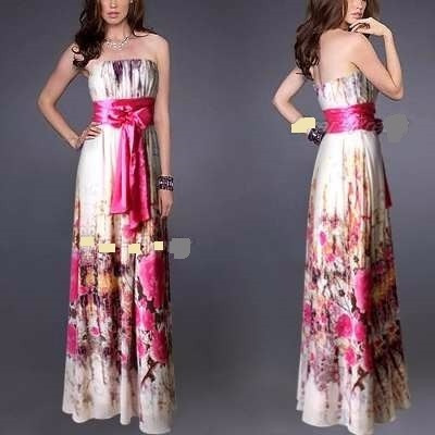 Vestido Largo Straples De Gasa 3xl