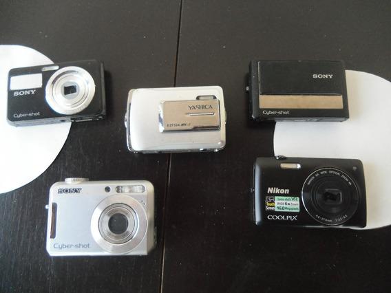 Lote Com 5 Câmeras Digitais Para Restauro Ou Retirar Peças