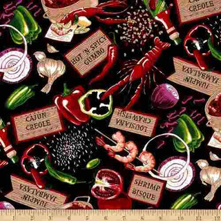 Robert Kaufman Salsa Picante Cajun Delight Fabric By The Yar