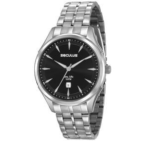 Relógio Masculino Prateado Seculus Analógico 23599g0svna1