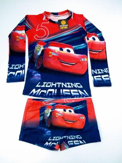 Camisa Proteção Uv 50+ Sunga Infantil Varios Personagens 2