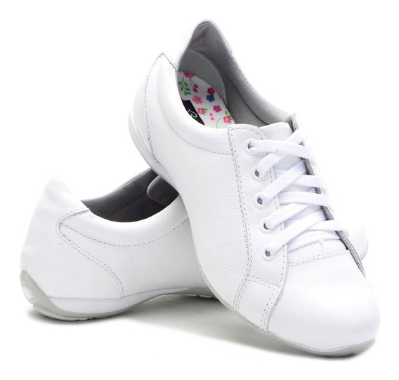 Sapato Sapatênis Tênis Feminino Casual Couro Bmbrasil 227/02