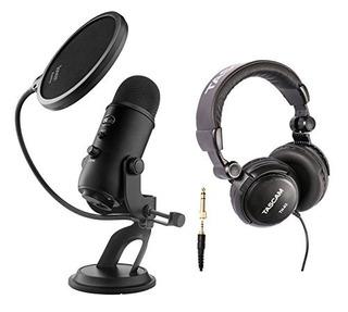 Micrófonos Blue Yeti Usb Micrófono Con Auriculares De Estudi