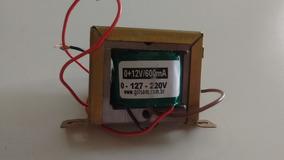 Transformador (trafo) 0 + 12v/600ma Gilsom Bivolt