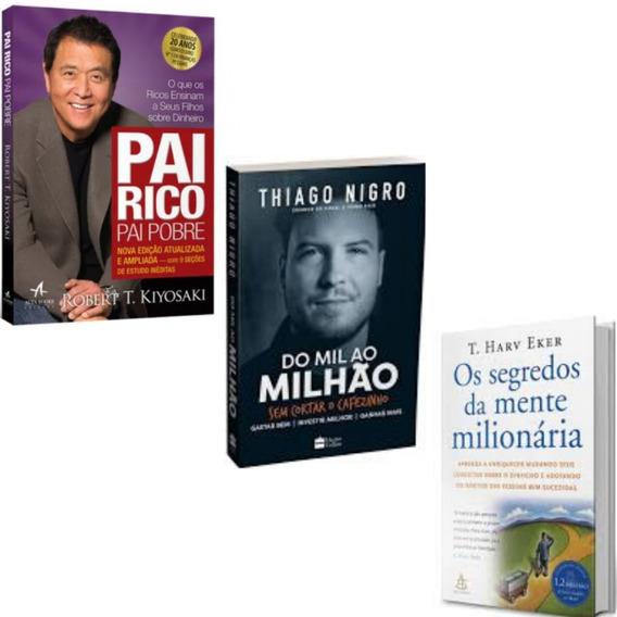 Pai Rico Pai Pobre+ Os Segredos Da Mente Milionária+1livro