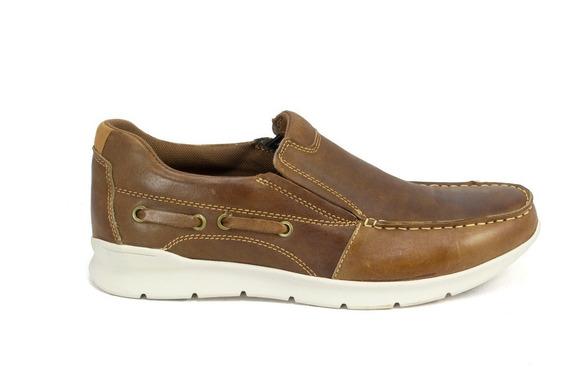 Zapato Nautico Hombre Storkman Mocasin Sport Cuero Vacuno