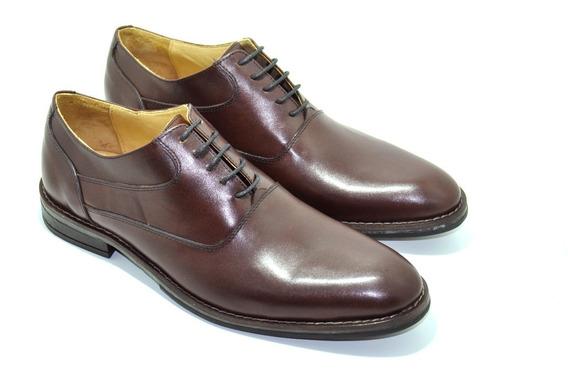 Calzado Zapato De Cuero Acordonado. Art. 18295