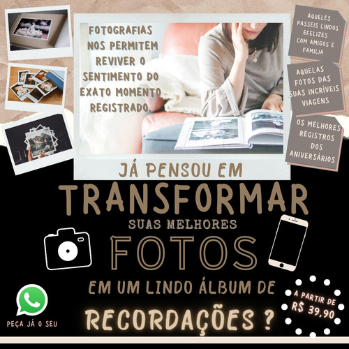 Imagem 1 de 1 de Album Fotografico Para Lindas Recordações - Oportunidade !