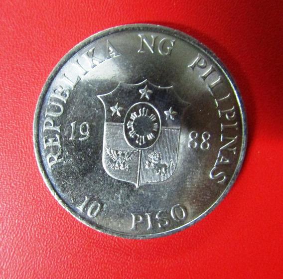 Filipinas Moneda 10 Piso 1988 Unc People Power Revolution