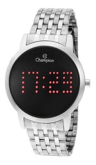 Relógio Champion Dourado Digital Led Vermelho Ch40008t